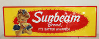 SUNBEAM BREAD LARGE 42'' VINTAGE STYLE EMBOSSED METAL SIGNS COUNTRY STORE DECOR