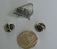 PIANO,MUSIC,KEYBOARD,PEWTER LAPEL OR HAT PIN, UK MADE,