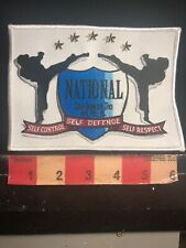 National Tae Kwon Do Martial Arts Patch Self Control Self Defense & Respect 01Rn