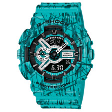 Casio G Shock GA-110SL-3A Men's Ana-Digi Blue Resin Band Watch New with Tags
