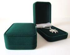 Luxury GREEN Velvet Jewellery Gift Box-Display Stand RF12-Necklace-Pendant 6x8cm