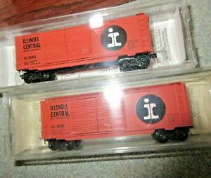 Both Kadee #23090 Illinois Central ( IC 136501 & 136993 ) 40' Boxcars (MIB)