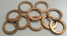PACK OF TEN GENUINE AUDI VW MK1 MK2 GOLF COPPER SUMP WASHERS X10 - N0138492