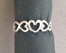Open heart shaped toe ring genuine .925 sterling silver