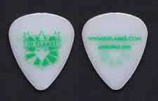 In Flames White/Green Glow Guitar Pick - 2008 Tour