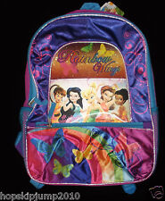"DISNEY TINKERBELL ""Rainbow Wings"" 16"" FULL SIZE BACKPACK ~ NWT"