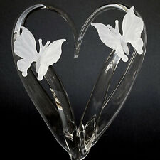 Butterfly Butterflies Glass Wedding Cake Top Topper