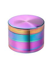 63mm Titanium Zinc Alloy 4 Part Rainbow Dazzle Color Grinder US Seller