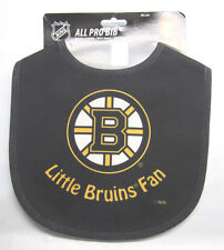 NHL NWT INFANT ALL PRO BABY BIB - ALL BLACK - BOSTON BRUINS