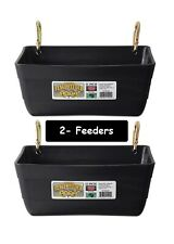 "Black Feeders Little Giant Fence Feeders with Clips 11 "" - 2 Feeders 4420 []"