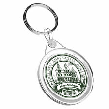 1 x Amsterdam Holland Vinyl - Keyring IR02 Mum Dad Kid Birthday Gift #4528