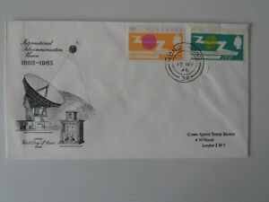 Rare 1965 Hong Kong ITU set on FDC First Day Cover send to Crown Agents Bureau