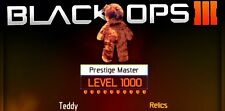 Black Ops 3 nivel 1000 Master Prestige Zombies servicio PS4