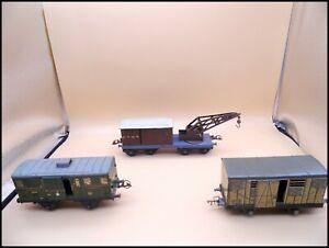 JEP / HORNBY O LOT 3 WAGONS FOURGON GRUE TRAIN ELECTRIQUE 0