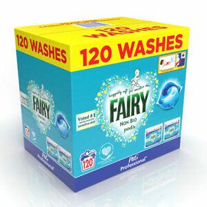 Fairy Non Bio Pods, 120 Count Laundry Cleaning Washing Capsule Liquid Detergent