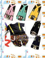 Kids Suspenders Adjustable X-back Braces Elastic Suspender Children Belt Straps