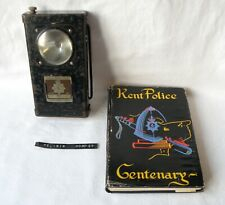 More details for kent police, forster equipment lamp with badge & book. with history. 1950s - 60s