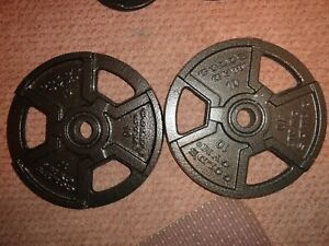 20LBS TOTAL GOLD'S GYM WEIGHT PLATES