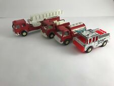 "Tootsie Toy - Die Cast Metal - 4 pc. ""BIG"" Fire Dept Collection - Vintage 1970's"