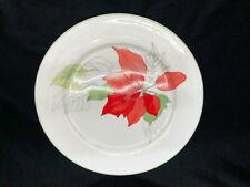"Block Spal Watercolors Poinsettia 10 5/8"" Dinner Plate Portugal 1982"