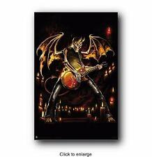 Guitar Hero Demon Skeleton Poster Print 24x36 SO1498