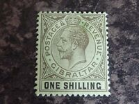 GIBRALTAR POSTAGE REVENUE STAMP SG81 ONE SHILLING UN-MOUNTED MINT