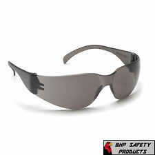 (144 PAIR) PYRAMEX INTRUDER SAFETY GLASSES SMOKE GRAY LENS SUNGLASSES S4120S