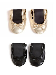 TALARIA Women's Classic Foldable Flats with Pouch $12 NEW