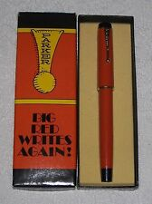 PARKER BIG RED  ORANGE WITH GOLD BAND   BALLPOINT PEN  IN BOX  MADE IN USA  *