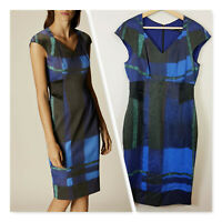[ KAREN MILLEN ] Womens Watercolour Check Dress | Size AU 14 or US 10