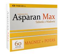 Asparan Max 60 Tablets Magnesium Potassium ASPARGIN Magnez Potas Free P&P