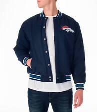 NEW Denver Broncos Men's Jacket Sz Large Wool Reversible Nylon Embroidered Logos