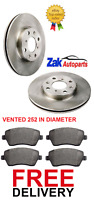 FOR SUZUKI SPLASH 1.0, 1.2, 1.3 DDIS 2 TWO FRONT BRAKE DISCS AND PADS SET NEW