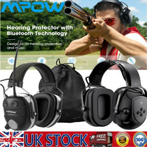Mpow Bluetooth 36dB Ear Muffs Ear Defender Hearing Protection 3.5mm Headphones