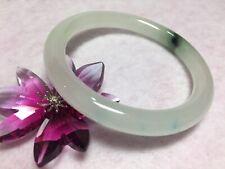 52.5mm- Vintage 100% Natural Jadeite Bangle- White/Green/Blue- Undyed, Untreated