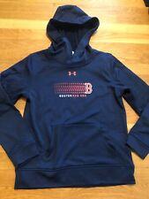 Under Armour Boston Red Sox Hooded Sweatshirt Boys Coldgear Youth Xl