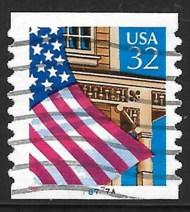 U.S. Scott #2915A 32-Cent Flag Over Porch Plate #78777A USED PS1 XF Cat. $17