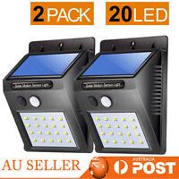 4x 38LED Solar Poder Ligero IP65 Impermeable Pared Lámpara PIR Movimiento Sensor