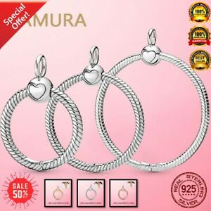 925 Sterling Silver Rose Moments Small O Pendant fit European Charm Bracelet