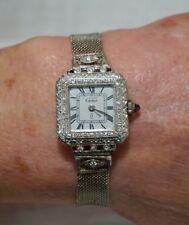 1920s Cartier Platinum Diamond Halo/lugs/Bars 60pt Cabochon Blue Saphire