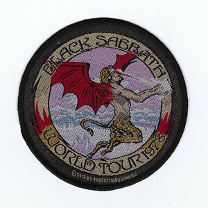"Black Sabbath ""World Tour 78"" Official Woven Patch"