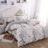 Luxury Flower Quilt Duvet Doona Cover Set Single Queen King Size Bedding Set