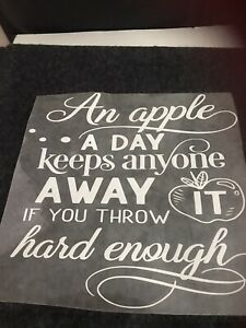 Iron On Heat Transfer Decal 9x9 Inches
