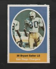 1972 SUNOCO STAMP BRYANT SALTER SAN DIEGO CHARGERS