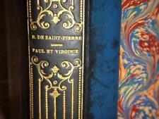 BERNARDIN DE SAINT PIERRE - Paul et Virginie + Chaumiere indienne GRAVURES LI1