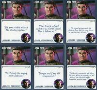 Star Trek Archives & Inscriptions card 19 Romulan Commander all 16 different Var