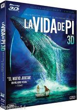 LA VIDA DE PI 3D BLU RAY NUEVO [ SIN ABRIR ]EDICION COLECCIONISTA 2 DISCOS