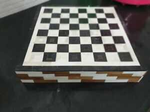 Made to Order Real Bone Inlay Designer Luxury Chessboard With Dice and Pieces