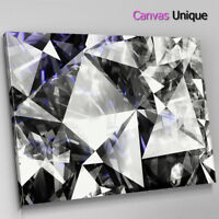AB1692 black and white diamond Abstract Wall Art Picture Large Canvas Print