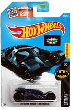 2016 Hot Wheels #228 Batman Series The Dark Knight Batmobile blue